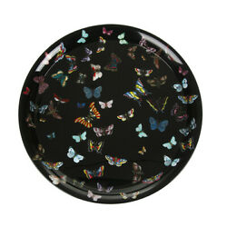 Fornasetti Black / Multi Color Butterfly Farfalle Tray New