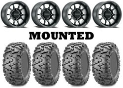 Kit 4 Maxxis Bighorn 2.0 Tires 26x9-14 On Method 409 Bead Grip Matte Black Can