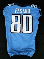 80 Anthony Fasano Of Tennessee Titans Nfl Locker Room Game Issued Jersey