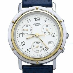 Hermandegraves - Clipper Chronograph Watch Steel Andamp Gold