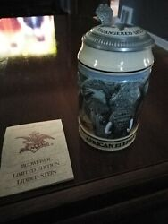1990 Budweiser Endangered Species Limited Edition Hand Crafted Beer Stein