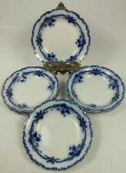 Four Johnson Brothers Antique Flow Blue China Oxford 5 Sauce / Dessert Dishes
