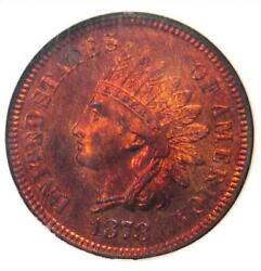 1878 Proof Indian Cent 1c Penny - Ngc Pr66 Rb Cameo Pf66 - 5500 Value