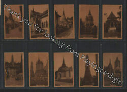 Tobacco Cards Cigarette Cards Set Views Of Siam