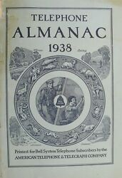 Bell System American Telephone And Telegraph Co Telephone Almanac 1938