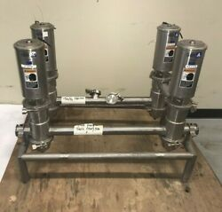 Lot Of 4 Gandh Sanitary 2 Air Actuated Double Seat Mixproof Valves A3 53-00