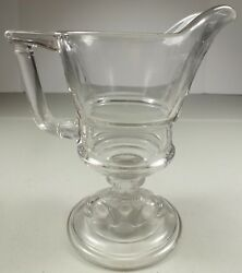Eapg Hobbs Brockunier Glass Hard To Find 1880and039s Dolphin Stem Creamer Pitcher