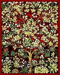 Red Tree Of Life By William Morris Painting Artwork Paint By Numbers Kit Diy