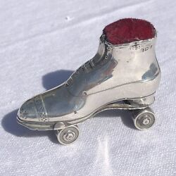 Rare Novelty Antique Edwardian Roller Skate Pin Cushion Crisford And Norris 1910