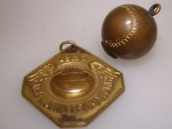 Rare Antique Dated 1926 Ssaa Basketball Champs Teamwork Brass Medal And Charm