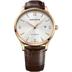 Louis Erard Menand039s Automatic Watch Pvd Rose Gold With Brown Leather Strap