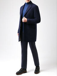 Loro Piana Dark Blue Cashmere Padded With Suede Storm System Downtown Coat 4xl