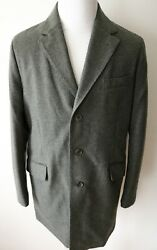 Loro Piana Green Melange Cashmere Padded W/ Suede Storm System Downtown Coat Xl