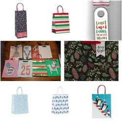 Christmas Gift Bags Tag Wine Accessories New Free Ship Wrap Hanukkah Ornaments