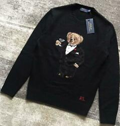 Polo Knit Sweater Mens Xs Black Wool Cashmere Unused Fs From Japan