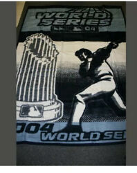 2004 World Series Blanket Throw Boston Red Sox St. Louis Cardinals New 60 X 80
