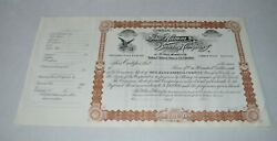 1890and039s Hamms Hamm Beer Common Stock Certificate 100 Benefits Food Shelf Charity