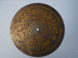 German Antique Symphonion Music Box Disc 5346 The 7th Royal Fusiliers Military