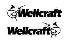 Pair Of 12 X 40 Wellcraft Boat Hull Decals. Marine Grade. Your Color Choice