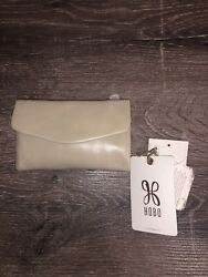New With Tags HOBO Lacy WALLET Ivory Linen Tan Beige LEATHER $55.00