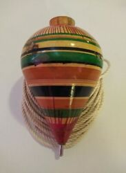 New Spinning Top Back Old Day's Traditions Real Wood.