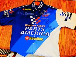 Nhra Shelly Anderson Race Worn Crew Shirt Nitro Dragster Top Fuel Signed Brad