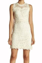 Romeo Juliet Couture Off White Lace Overlay S/l High Ne Cocktail Dress New Jrs S