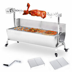 46 Large Stainless Steel Bbq Pig Lamb Goat Chicken Spit Roaster Rotisserie Spit
