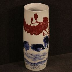 Chinese Vase Oriental Cup Furniture Object In Painted Ceramic Antique Style