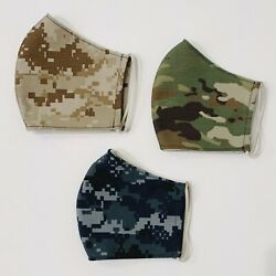 KIDS Camo Reusable Washable Face Mask with Filter Pocket MADE IN USA $13.50