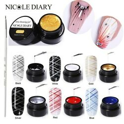 Nicole Diary Spider Nail Gel Creative Wire Drawing Nail Gel Varnish Point To Lin