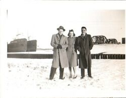 Vintage Photograph Ship/steamers On Great Lakes, In Winter, C1942. Pb3