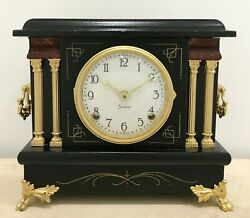 Restored To Battery Antique Sessions Mantel Clock 1539