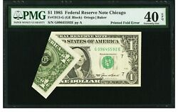 Error 1985 Us 1 Federal Reserve Note Chicago. Pmg 40 Epq Extremely Fine