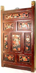 Antique Chinese Gold Gilt Temple Carved Panel 2564, Circa 1800-1849
