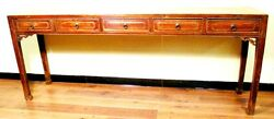 Antique Chinese Painting Table 3176 Zelkova Wood Circa 1800-1849