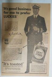 Lucky Strike Ad Hollywood Star Jack Holt From 1931 Size 12 X 18 Inches
