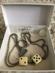 Martin Margiela Men Dice Necklace Genuine Made In Italy Rare Used Free Shipping