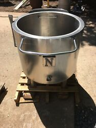 50 Gallon Stainless Steel Steam Kettle Will Ship Send Address For Quote.