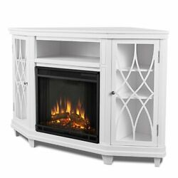 Real Flame Lynette Corner Fireplace Tv Stand In White