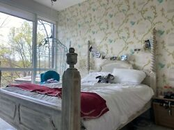 Wooden Bed Frame Queen With Matress Antique/rustic Style