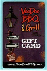 Voodoo Bbq And Grill Lamp Post 2013 Gift Card 0