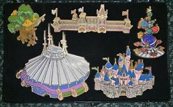 Disney Pins Cast Exclusive Hong Kong Walt Disney Opening Castle Jumbo Le Set/lot