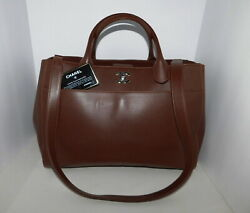 Executive Cerf Tote Hand Bag Caviar Leather Burgundy Authentic B105