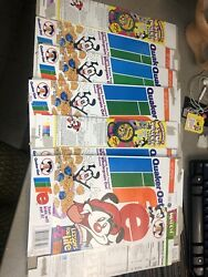 Vintage 1995 Quaker Oat Life Empty Flat Cereal 5 Boxes Animaniacs