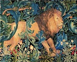 The Forest Lion William Morris Painting Artwork Paint By Numbers Kit Diy