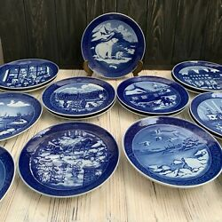 Royal Copenhagen Christmas Plate 1990- 2017 Collection Vintage Wall Collectible