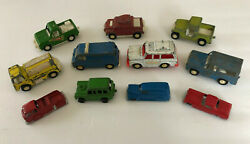 Vintage Lot Of 11 Assorted Tootsie Toy Diecast Metal Cars And Trucks Collection