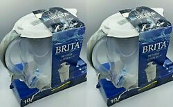 Brita Pacifica 10 Cup Water Filter Pitcher with Filter White New sealed (2 pack)