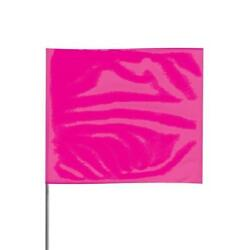 Presco 2 X 3 Pink Glo Marking Flags W/ 30 Staff Pack Of 1000 - 2330pg